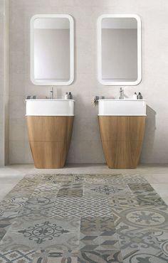 Carreaux et carrelage dans la salle de bains : 7 idées - Côté Maison