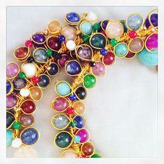Más gargantillas cuajadas que van saliendo del horno #oshjewellery #necklace #statementnecklace
