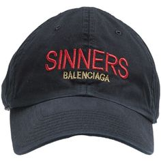 Sinners Hat ($255) ❤ liked on Polyvore featuring men's fashion, men's accessories, men's hats, accessories, black and balenciaga