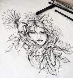 Tattoo sketches 595812225685083710 - Tatouage Source by lillies_b Rose Tattoos, Body Art Tattoos, New Tattoos, Sleeve Tattoos, Tatoos, Flash Tattoos, Goddess Tattoo, Aphrodite Tattoo, Artemis Tattoo