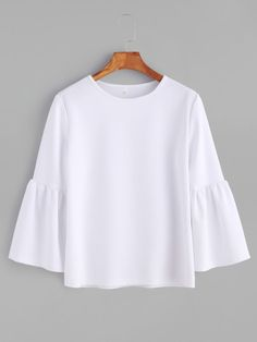 Shop Flute Sleeve T-shirt online. SheIn offers Flute Sleeve T-shirt & more to fit your fashionable needs.