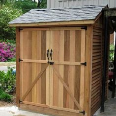 Found it at Wayfair - Maximizer 6 Ft. W x 6 Ft. D Wood Storage Shed Wooden Storage Sheds, Outdoor Storage Sheds, Wooden Sheds, Outdoor Sheds, Backyard Sheds, Wood Shed Plans, Diy Shed Plans, Storage Shed Plans, Small Shed Plans