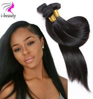 Malaysian Virgin Hair Straight 100% Human Hair Weaving 7A Unprocessed Virgin Hair Natural Black Hair Straight Human Weaves
