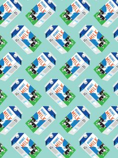 Milk Carton Pattern – The Supermarket Series card by Pattern Paper Co.