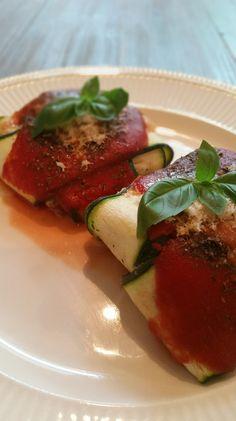 courgette ravioli met een ricotta-gehaktvulling