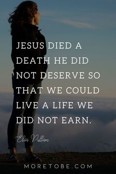 Jesus died a death He did not deserve so that we could live a life we did not earn. Continue reading on the blog . . . #MoreToBe #ChristianWomen #BibleStudy #Devotional