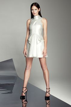 sculpted sheen peplum - robert rodriguez spring 2013