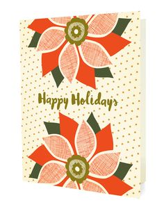 Starry Poinsettia Boxed Cards
