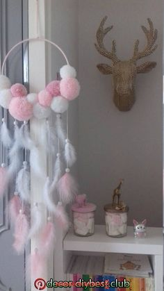 This article is not available. This article is not available – craft ideas children – Diy Home Decoration Diy Crafts Hacks, Diy Home Crafts, Baby Crafts, Crafts For Kids, Dream Catcher Art, Dream Catcher Mobile, Pom Pom Crafts, Baby Room Decor, Diy Art