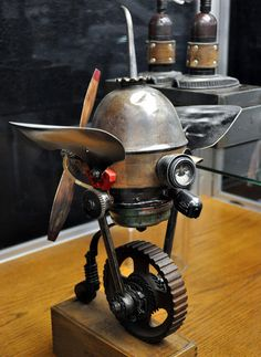 Classic Cars Authority: Dan Jone's steampunk Tinkerbots display at the San Diego Auto Museum's Steampunk exhibit