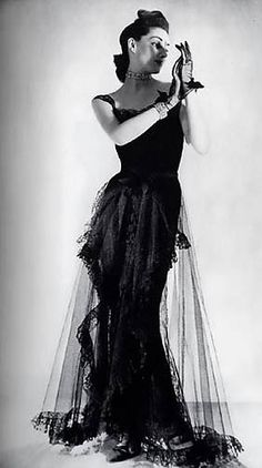 Chanel Dress - 1939 - House of Chanel (French, founded 1913) - Design by Gabrielle 'Coco' Chanel - @~ Watsonette