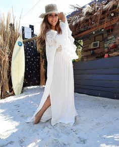 Kimono & Jurk Ibiza Fashion, Bohemian, Style, Fashion Styles, Swag, Boho, Outfits