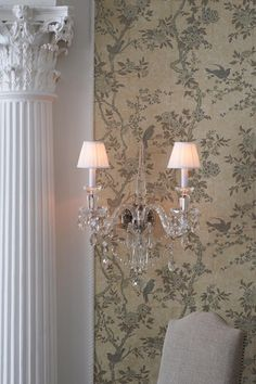 Taupe and black wallpaper (close up) - Ralph Lauren