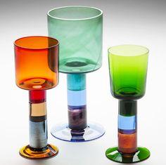 KERTTU NURMINEN - Lasipikarit, Nuutajärvi. Ceramic Design, Glass Design, Design Art, Art Of Glass, Scandinavian Art, Glass Ceramic, Nordic Design, Lassi, Finland