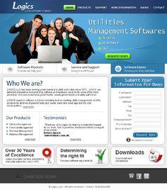 Logics Software Company Custom CMS website Designed and Developed.