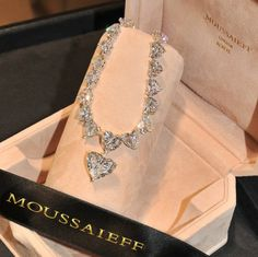 Set hearts a flutter. A heart-shape diamond necklace, total weight carats. Cute Jewelry, Body Jewelry, Jewelry Accessories, Diamond Are A Girls Best Friend, Luxury Jewelry, Diamond Jewelry, Fashion Jewelry, Girly, Bling
