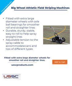 Aerosol athletic field striping machine