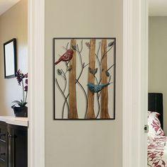 Stratton Home Decor Bird & Trees Wall Decor