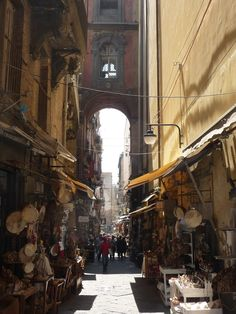 """San Gregorio Armeno, Naples, Italy!   AKA...""""Christmas Alley"""" - one of my favorite places to visit in downtown Napoli! :)"""