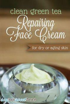 Amazing Green Tea Repairing Face Cream Recipe