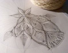 Created crochet lace patterns