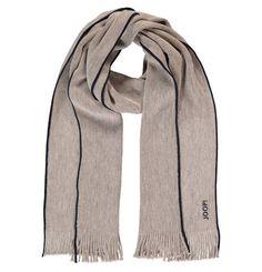 Ein zeitloser Schal von JOOP! mit modischen Akzenten. Er ist aus 100% Wolle und somit perfekt für die kalte Jahreszeit.