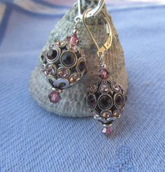 Swarovski Encrusted Rose and Burgundy Crystals by JemsbyJoan, $37.50