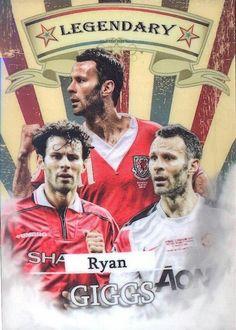 Ryan Giggs of Man Utd & Wales. Retro Football, Football Team, Man Utd Fc, Soccer Inspiration, Good Soccer Players, Manchester United Football, Football Pictures, Man United, Graphic Artwork