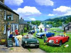 A Meeting of Minds Rude Birthday Cards, Unicorn Birthday Parties, Man Birthday, Classic Cars British, Mg Cars, Morris Minor, Wooden Jigsaw Puzzles, Ivory Coast, Days Out
