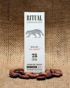 Ritual is quickly becoming America's best and brightest chocolate maker. Balao is from Ecuador which is becoming quite a common origin. However, even when the heirloom Nacional cacao is used it rarely expresses the notes of beer and bread yeast and notes of bananas and jasmine as well as Ritual Balao. Another masterpiece from this new artisan American chocolate maker.