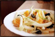 Insalatina di finocchi, arancia e olive nere