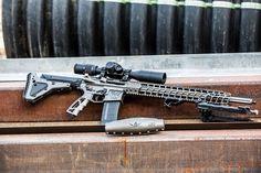 Jesse James Firearms Unlimited, Fluted Cryo Treated Bull Barrel Nomad AR15 with JJFU Aero Sonic™ LSFS