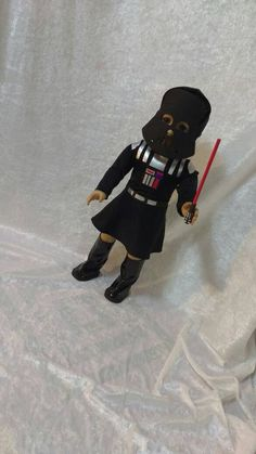Darth Vader Costume for American Girl Doll by JessiesGirlClothing on Etsy