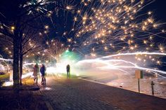 Photographer Kimmo Kuloveski took this incredible photo on New Year's Eve, simply calling it Explosive New Year 2014. There was no explanation, just a dazzling photo of fireworks flying everywhere.