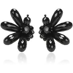 Simone Rocha Crystal and Perspex Cluster Earrings (8.946.750 VND) ❤ liked on Polyvore featuring jewelry, earrings, black, crystal jewellery, lucite jewelry, cluster jewelry, simone rocha and crystal cluster earrings