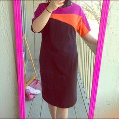 Tertiary Colors Midi Dress