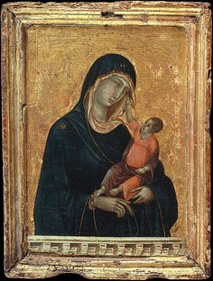 Madonna and Child,  Duccio di Buoninsegna,  ca. 1300, Tempera and gold on wood,  Metropolitan Museum of Art,   2004.442,  Currently on view