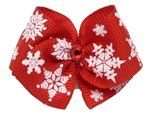 """Puppy Kisses """"Christmas in NY"""" Dog Hair Bow - French metal barrette, Made with SWAROVSKI ELEMENTS - http://www.thepuppy.org/puppy-kisses-christmas-in-ny-dog-hair-bow-french-metal-barrette-made-with-swarovski-elements/"""