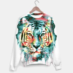 WATERCOLOR TIGER #tiger #watercolor #animals #digitalarts #sweaters #hoodies #womenswear