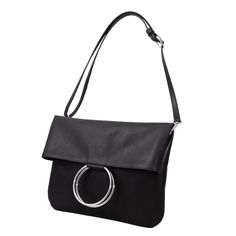 Hallo Taxi Long Black Leather Bag | Anke Runge Berlin