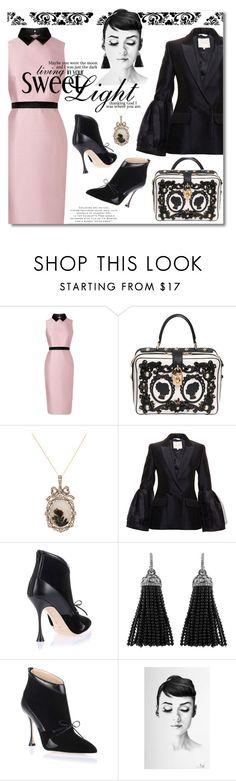 """Baroque Delight"" by petri5 ❤ liked on Polyvore featuring mode, L.K.Bennett, Dolce&Gabbana, Roksanda, Manolo Blahnik et vintage"