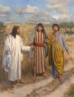 """As they approached the village to which they were going,he gave the impression that he was going on farther.But they urged him,""""Stay with us,for it is nearly evening and the day is almost over.""""So he went in to stay with them._Luke 24:28-29 // The Appearance of Jesus Christ on the Road to Emmaus / Aparición de Jesucristo en el camino de Emaús // © Raúl Berzosa"""