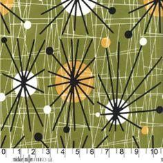Michael Miller House Designer - Mid Century Modern - Atomic in Olive