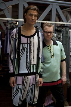 Model wearing Sibling, SS14 & Sid Bryan (Sibling) at LONDON show ROOMS Paris