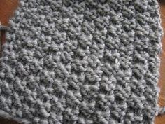 Point facile au tricot: le point de damier 2 mailles | Bonjour Handmade par AnnyMay