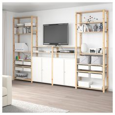 IKEA - IVAR 4 section storage combination pine, white