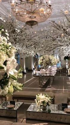 Desi Wedding Decor, Luxury Wedding Decor, Wedding Venue Decorations, Wedding Stage, Wedding Themes, Engagement Stage Decoration, Enchanted Garden Wedding, Entrance Decor, Indoor Wedding