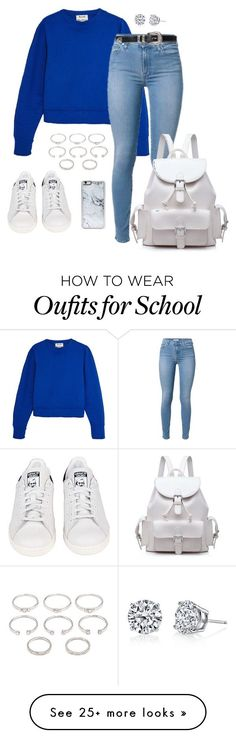 """""""School Style"""" by jenxorose on Polyvore featuring Acne Studios, Forever 21, Zero Gravity, adidas and Harry Kotlar"""