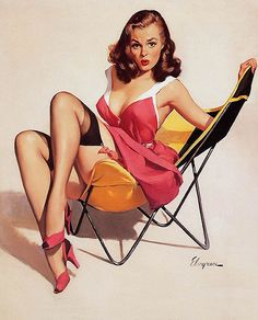 All sizes | Sitting pin up 37, via Flickr.