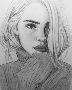 ▷ 1001 + Ideas and inspirations for pictures to draw - Portrait - Art Sketches Beautiful Pencil Drawings, Realistic Pencil Drawings, Pencil Art Drawings, Art Drawings Sketches, Drawing Art, Realistic Sketch, Beautiful Sketches, Drawing Ideas, Portrait Au Crayon